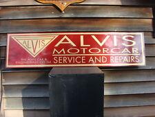 "EARLY ALVIS CLASSIC MOTORCAR DEALER/SERVICE/ADVERTISING SIGN/GARAGEART 1'X46"""