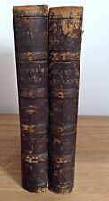 THE WORKS OF ROBERT BURNS - Vols 1 & 2 - Blackie & Son (1874) Antique 2 Vol Set