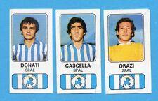 PANINI CALCIATORI 1976/77-Figurina n.497- SPAL-DONATI+CASCELLA+ORAZI -Rec