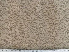 Drapery Upholstery Fabric Tiger Tempest Animal Print Chenille -Tan / Beige