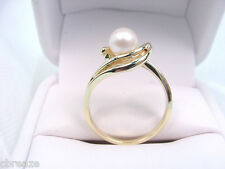 CULTURED AKOYA SALTWATER PEARL 14K GOLD RING