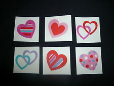 18 x Funky Heart Tattoos Great for Kids Parties or Stocking Fillers