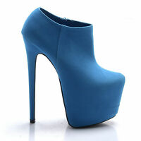 BRAND NEW SEXY PLATFORM STILETTO HIGH HEEL WEDGE ANKLE SHOE BOOTS SHOES SIZE 3-8