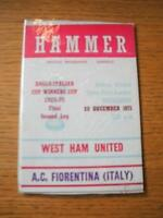 10/12/1975 Anglo-Italian Cup Winners Cup Final: West Ham United v Fiorentina  .