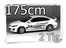 175cm Seitenaufkleber Flag Racing Carstyling Tuning Autotattoo Aufkleber Set