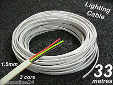 33m Roll Electrical Cable Flat 1.5sq Mm 3 Core (2c E) - for Lighting Circuits