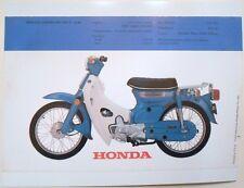 1972 HONDA C-70K1 C70K1 SALES SPECS AD/ BROCHURE
