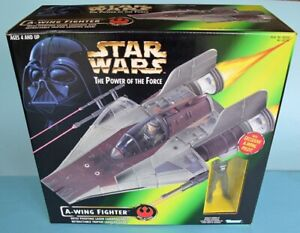 Star Wars The Power of the Force A Wing Fighter and exclusive Pilot. Kenner. MIB