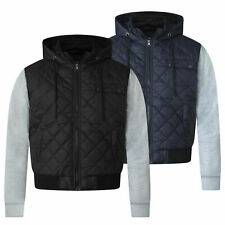 D555 para hombre Big King Size Edredón Chaqueta con capucha de manga larga cremallera abrigos de invierno cálido