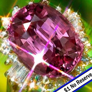 Tourmaline Ring 14.38ct 14K GOLD PINK Tourmaline Diamond Estate Vintage Ring ↩