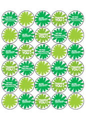 30 *pre-cut* Macmillan Cancer Cup Cake Edible Rice Wafer Paper Toppers