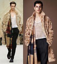 $4,895 RUNWAY Burberry Prorsum 38 48 Mohair Winter Caban Coat Trench Jacket Men