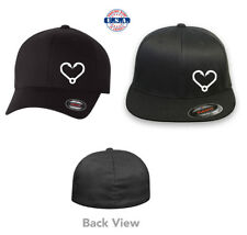 Fishing Love Hooks Flexfit Hat Curved or Flat Bill *Free Shipping in Box*