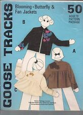 Goose Tracks Pattern 50 Blooming Butterfly and Fan Jacket Pattern Adults S M L
