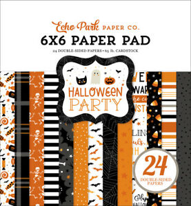 """Echo Park Halloween Party 6 x 6"""" Paper Pad  NEW"""