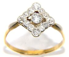 Antique Womens / Ladies 18ct 18Carat Yellow Gold 0.75ct Diamond Ring UK Size U
