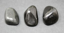 Black Agate Tumbled Stone: 3 LARGE Pieces (Crystal Healing Gemstone Rock)