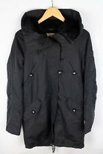 Gant Women Parka Jacket Black Breathable Casual Leisure Windproof size M