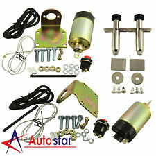 Universal 50lb Solenoid Shaved Door Handle Kit With 2 Door Poppers For Car Truck