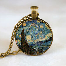 Starry Night Pendant, Starry Night Necklace, Vincent van Gogh Pendant jewelry