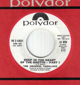 """Northern 60's Soul 7""""-Original Cadillacs-Deep In The Heart Of The Ghetto-Polydor"""