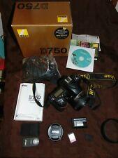 NIKON D750 24.3MP DSLR CAMERA + AF-S NIKKOR 50MM 1:1.8G LENS + BOX S/COUNT 29039