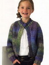 GIRL'S JACKET KNITTING PATTERN- JB087- EASY, ADORABLE JACKET!
