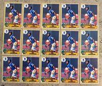 1987 Topps #170 - Bo Jackson Rookie RC - Kansas City Royals - 15ct Card Lot