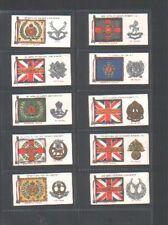 cigarette cards regimental standards & cap badges 1930 full set