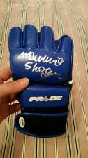 Mauricio shogun rua authentic Pride red bolt autographed glove