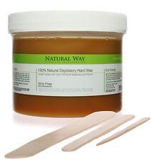 Natural Way 24oz/680g Depilatory Hard Wax with 150 Applicators