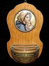 Catholic Maria Zell madonna Mary & Jesus Icon Holy Water Font