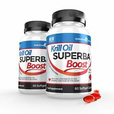 Krill Oil Superba Boost Strong 590mg 120 Red Softgel Capsules Evolution Slimming