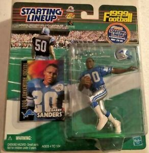 RARE 1999 BARRY SANDERS CONVENTION VARIATION STARTING LINEUP INVESTMENT GRADE
