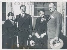 1935 TX Gov James Allred With Others At Amarillo Mother-In-Law Day Press Photo