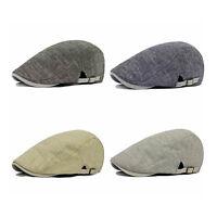 EG_ Men Cowboy Retro Cotton Cap Duckbill Beret Sunhat Hip Hop Hat Striking