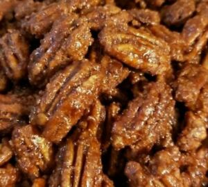 Maple Bacon Candied Pecans, Large Pieces, 5 Pound Box