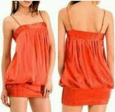 NWT Guess by marciano 96% silk orange bubble dress size  S