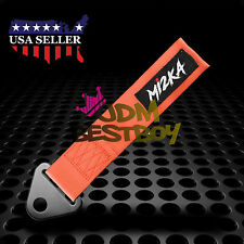 Orange High Strength Racing Tow Strap For Front Rear Bumper Hook Car Rope Ribbon