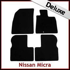 NISSAN MICRA Mk4 K13 2010-2016 1300g DI LUSSO SU MISURA TAPPETINI AUTO MOQUETTE NERA