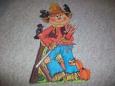 Amscan Scarecrow Fall Autumn Die Cut Chipboard Wall Decoration