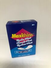 Maxithins Maxi Pads Napkins absorbency feminine maxi-pad in a travel size box.