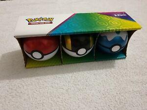Pokemon TCG Empty Pokeball Tins 3 Pack Display Box