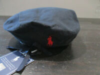 NEW Ralph Lauren Polo Beret Adult Medium Blue Red USA Olympic Team Pony Men