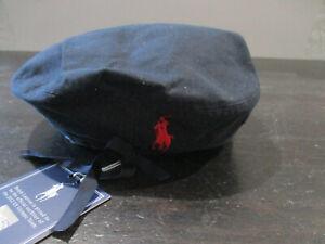 NEW Ralph Lauren Polo Beret Adult Medium Blue Red USA Olympic Team Pony Men