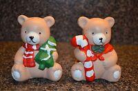 CHRISTMAS BEAR SALT AND PEPPER SHAKER SET