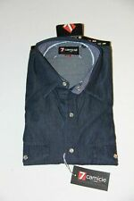 Men's 7 Camicie Jeans Denim Soft Collar Slim Fit (MEDIUM) BRAND NEW WITH TAGS!!