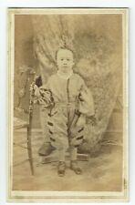 Victorian cdv photo boy standing unstated photographer