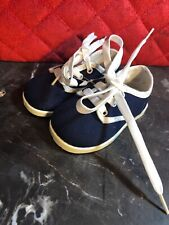 Vintage 1980's Dark Blue Kids baby Boy Or Baby Girl Tenny Shoes Size 1