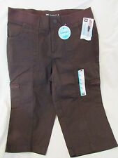 """Ladies """"Lee"""" Size 6M, Brown, Relaxed Fit, Snap/Elastic Waist, Cargo, Skimmer"""